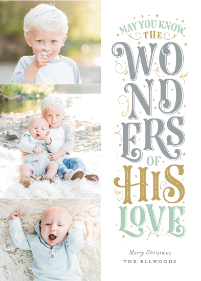 holiday photo cards - Wondrous Love by Sarah Guse Brown
