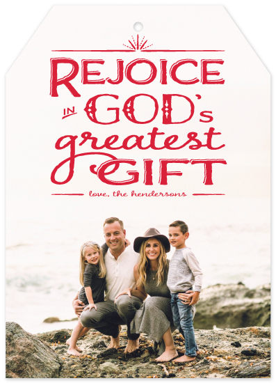 holiday photo cards - God's Greatest Gift by Gigi and Mae Studios
