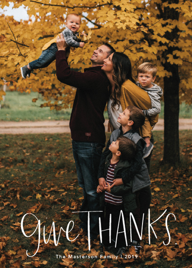 holiday photo cards - Handwritten Thanks by Kacey Kendrick Wagner