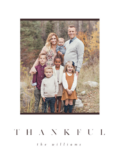 holiday photo cards - Simple Thankful by Pixel and Hank