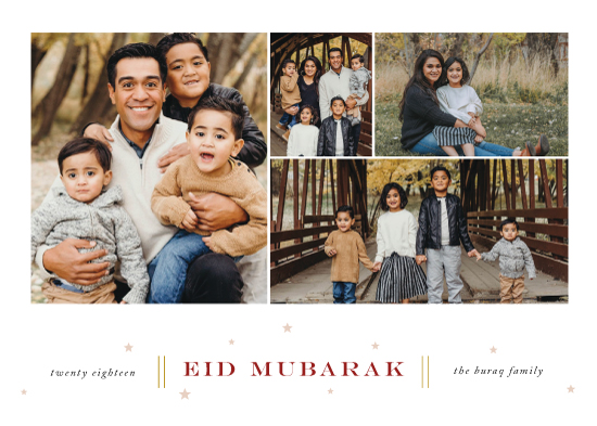 holiday photo cards - Eid Wishes by That Girl Press