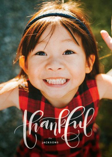 holiday photo cards - Brushy Thankful by Amy Payne