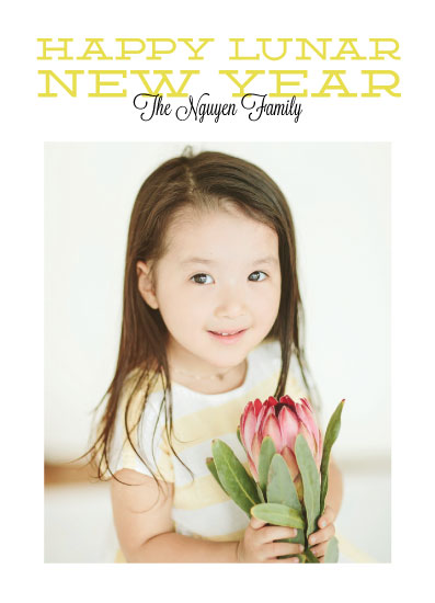 holiday photo cards - Happy Lunar New Year photo card by Sarah Cohn