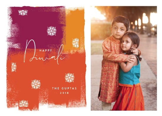 holiday photo cards - Diwali Splash by Nazia Hyder