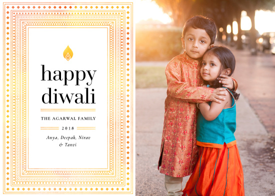 holiday photo cards - Geo Diwali by Monika Drachal