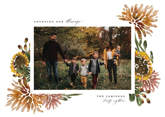 holiday photo cards - Autumn Florals by Grae Sales