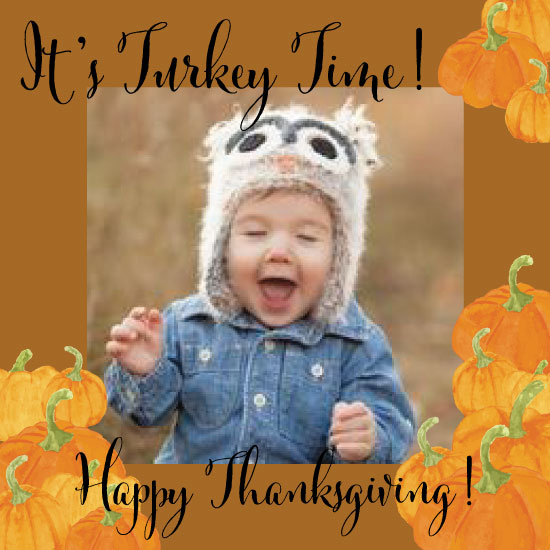 holiday photo cards - It's Turkey Time! by Heather McLaughlin
