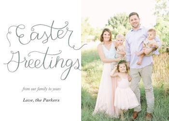 Easter Greetings Hand Lettered