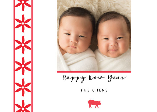 holiday photo cards - Lunar New Year Wish by Manuela BK