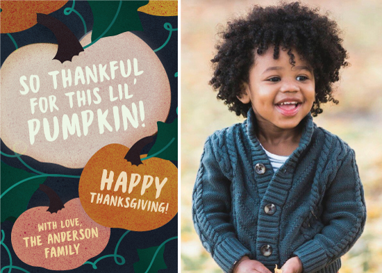 holiday photo cards - this lil' pumpkin by Yeah Papers