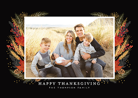 holiday photo cards - Always be thankful by iamtanya