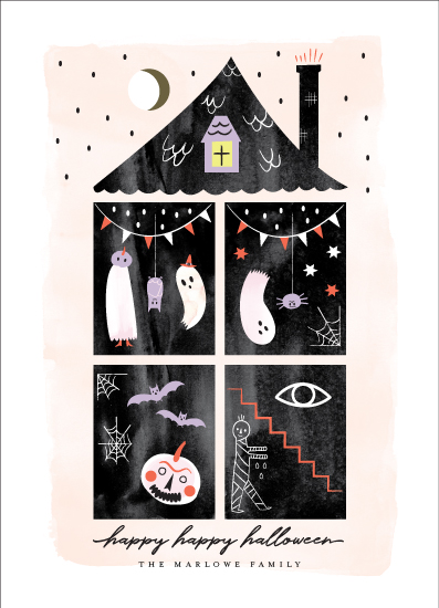holiday photo cards - happy happy halloween by Eve Schultz