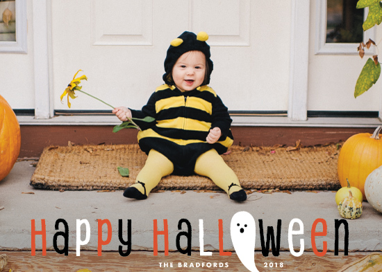 holiday photo cards - Halloween Ghost by Shirley Lin Schneider