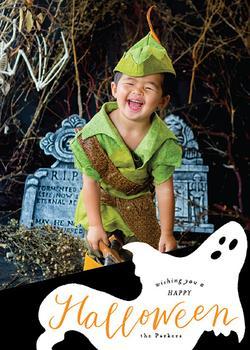 Side swept Halloween Ghost