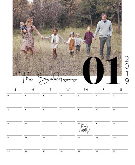 calendars - Modern Monochrome by Meridyth Espindola