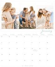 Blue Minimal Calendar by Linda Designs