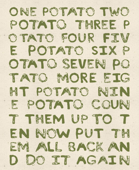 - Potato Rhyme by Meridyth Espindola