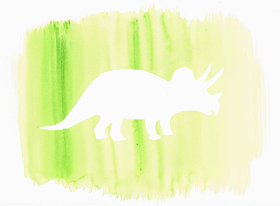 - Green dinosaur silhouette part I by Hanaa Uddin
