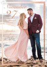 Rose Gold Save the Date by Saraya Lyons