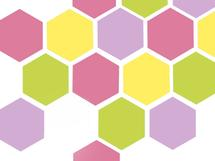 Bright solid hexagon by Shreya D