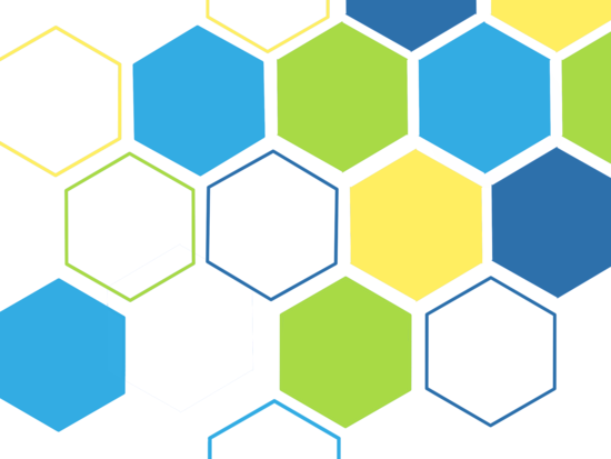 - Colourful hexagon by Shreya D