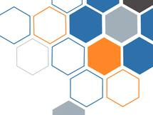 Blue orange hexagon by Shreya D