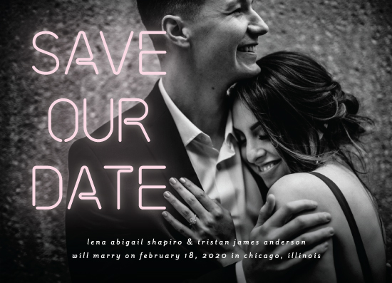 save the date cards - Glowing by Simona Camp
