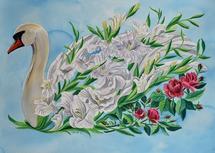 Swan Flower by Cathleen Earle