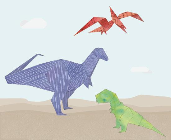 - Origami Dinosaurs by Manuela BK
