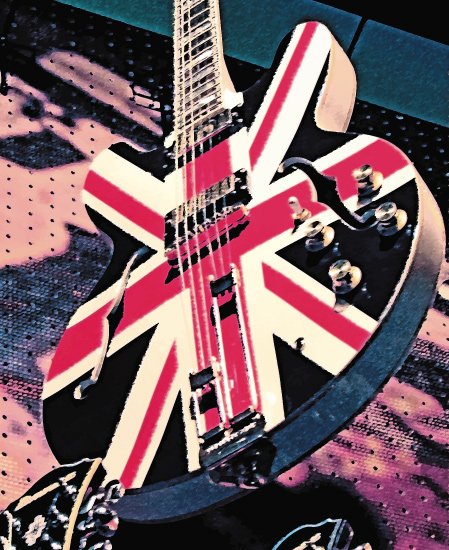 - Union Jack Guitar by Aure