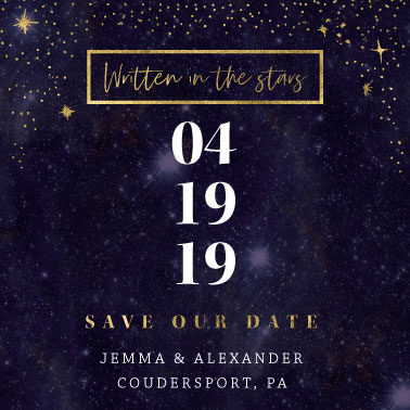 save the date cards - Celestial Celebration by Char-Lynn Griffiths