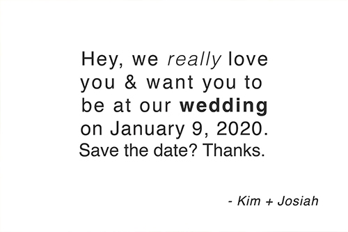 save the date cards - We Really Love You by JNOEL