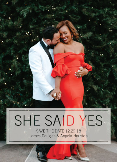 save the date cards - She Said Yes photo card by Sarah Cohn