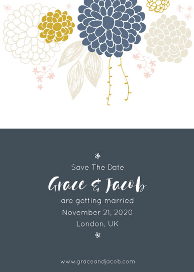 save the date cards - Blue Dream by Julia Khimich