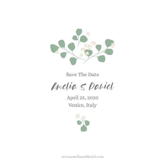 save the date cards - Green Mood by Julia Khimich