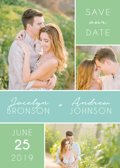 save the date cards - Fresh + Modern by Wonderment Paper Co.
