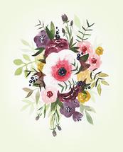 Burgundy Blush Bouquet by Kayvee Creative