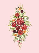 Diamond Ruby Rose by Kayvee Creative
