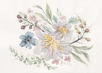 Muted Watercolor Bouquet