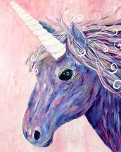 Purple Unicorn by Jenn Rice