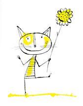 Petit Chat Dansant by Marsha Gray Carrington