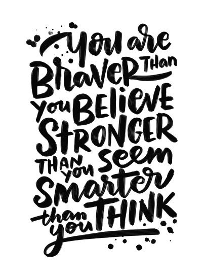 art prints - Braver Stronger Smarter by Laura Bolter Design