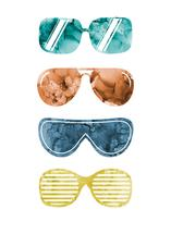 Hipster Shades by Becky Hull