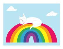 Cat Nap On A Rainbow by Marsha Gray Carrington