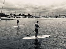 paddling on the bay by jeanne smith