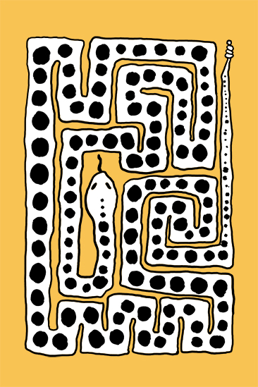 art prints - Charming Snake by Inkblot Design