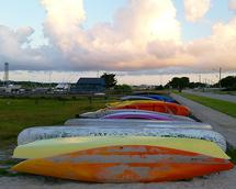 Colorful Beaufort Kayak... by Ashley Slade Mast