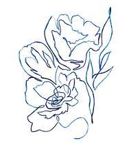 One Line Flower by Little Miss Missy