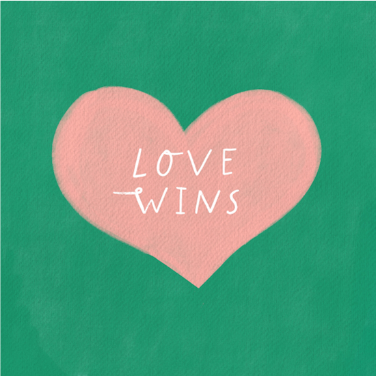 art prints - Love Wins by Little Miss Missy