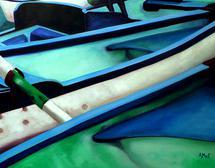 English Row Boats by Ashley Slade Mast
